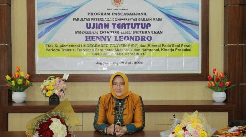 Raih Gelar Doktor Di Bidang Ilmu Peternakan, Wakil Rektor II Unikama Bantu Percepat Reproduksi Sapi Perah
